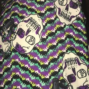 New Lularoe TC Halloween Skull Leggings